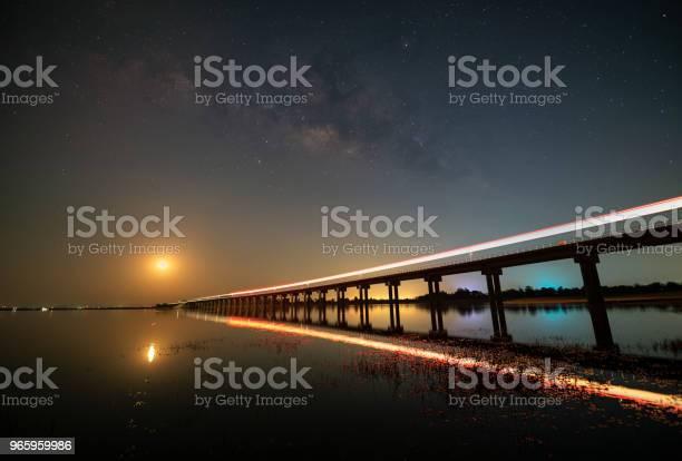 Nachtlandschaft Mit Milchstraße Über Zug Stockfoto und mehr Bilder von Astronomie