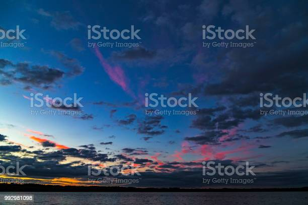 Photo of Night landscape with sky and water