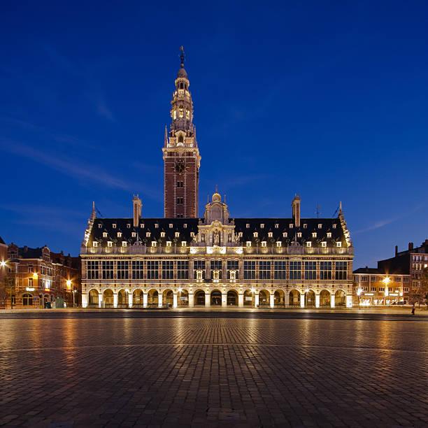 Night Leuven stock photo