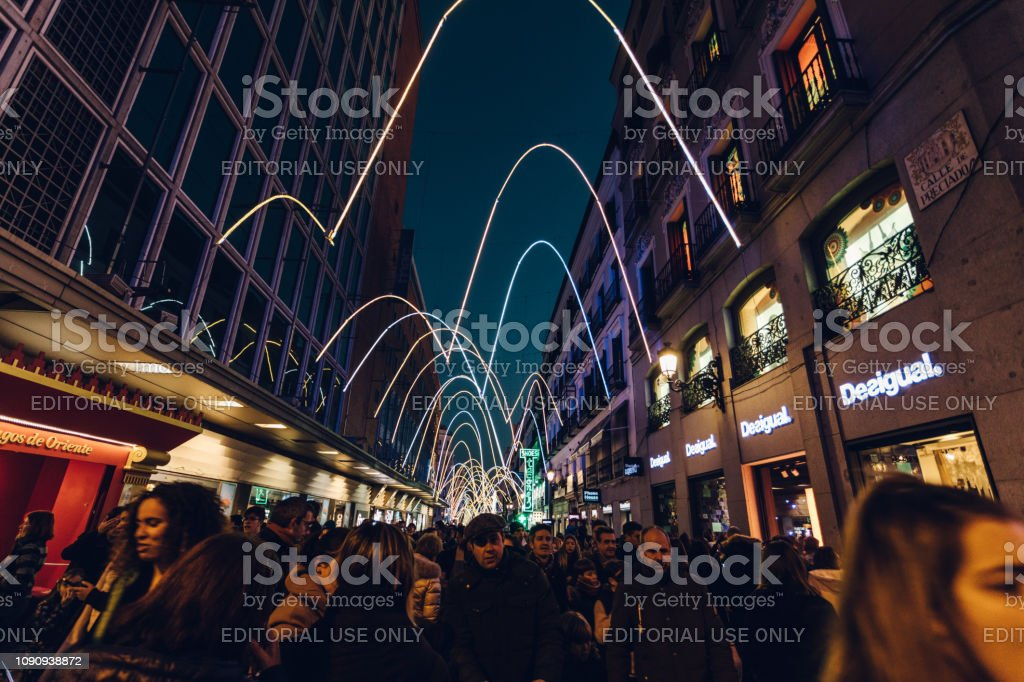 night life during the holidays stock photo