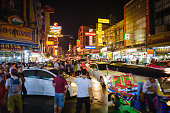 Bangkok, Thailand - march 10 2018: night life in Chinatown
