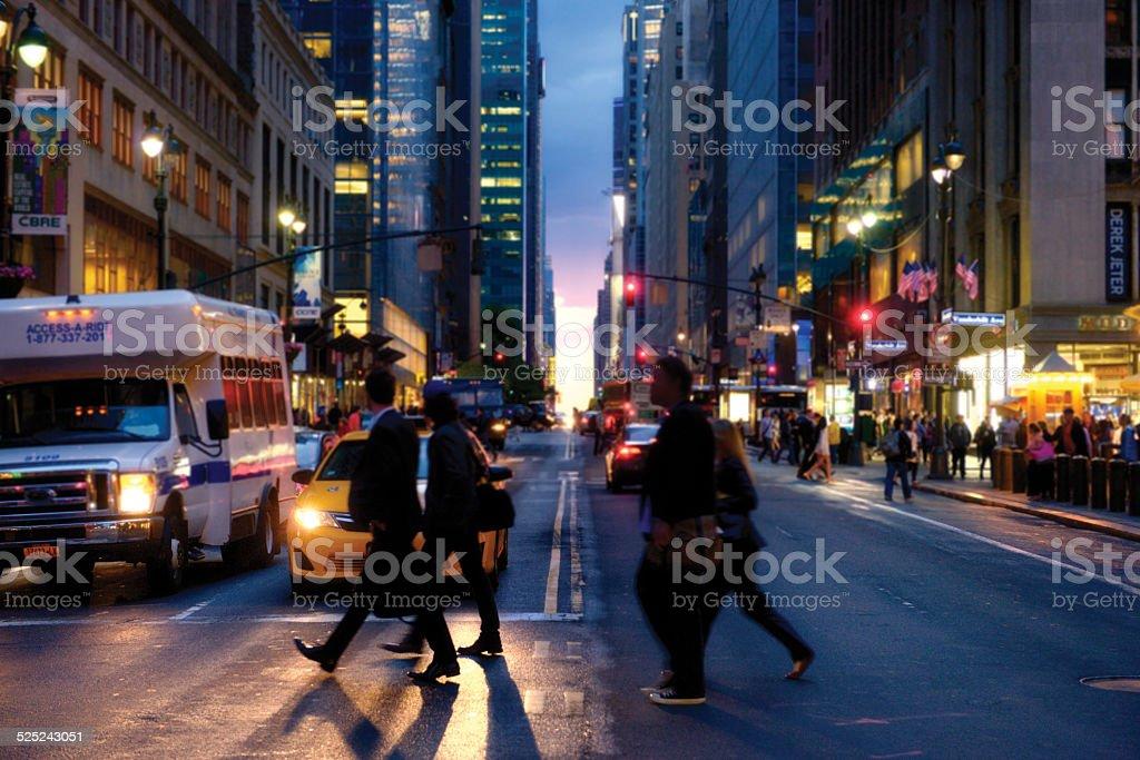 Night Life, NYC. stock photo