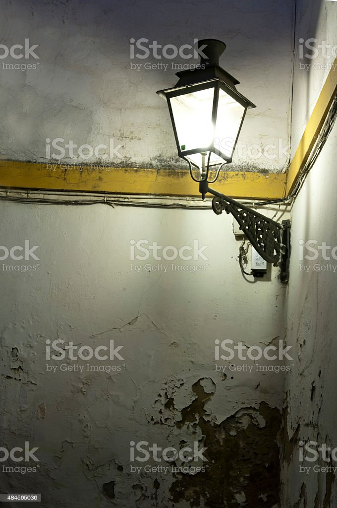 Night Light in a Corner of Seville stock photo