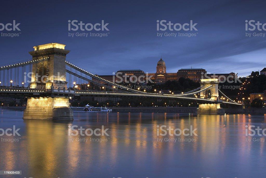Night light in Budapest. 4. royalty-free stock photo