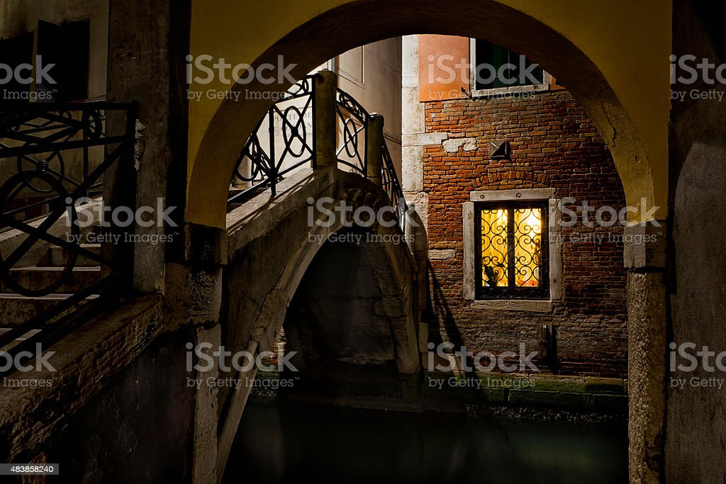 Night Light in Venice stock photo