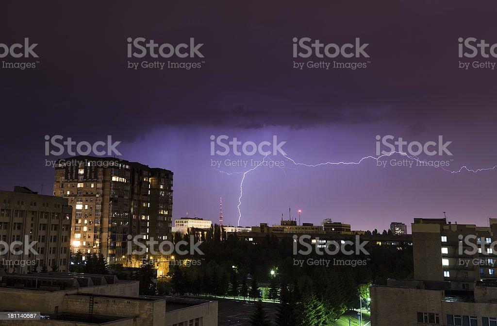 Night lightning royalty-free stock photo