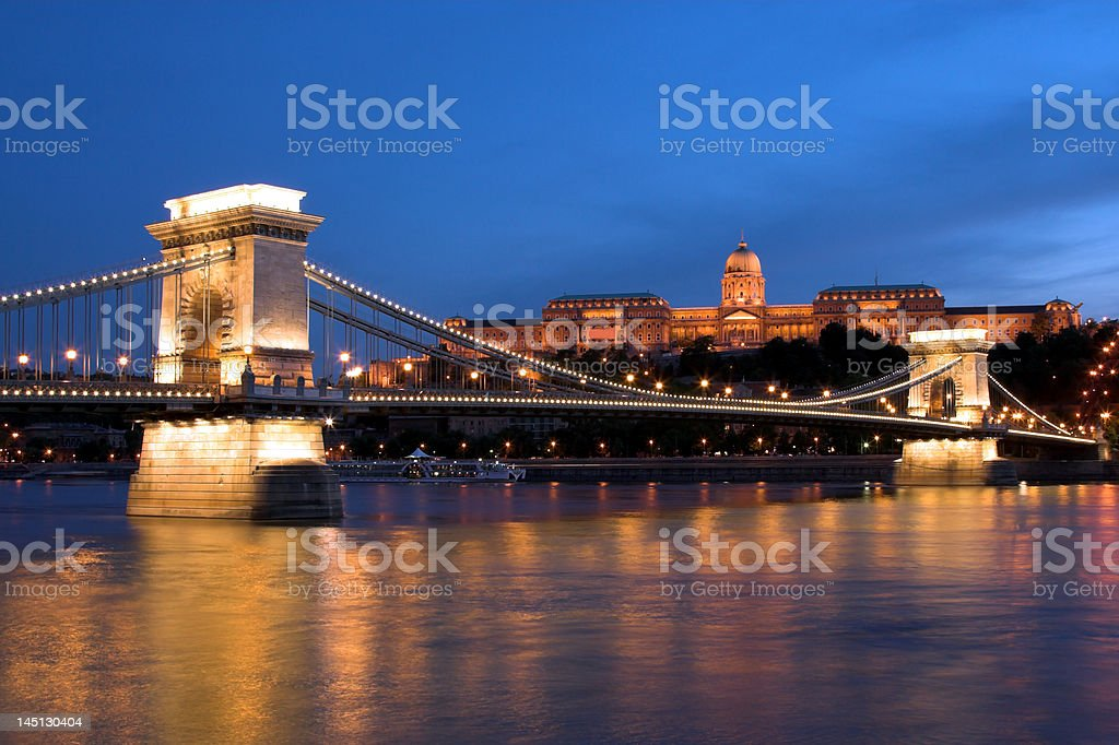 Night lights in Budapest 6. royalty-free stock photo