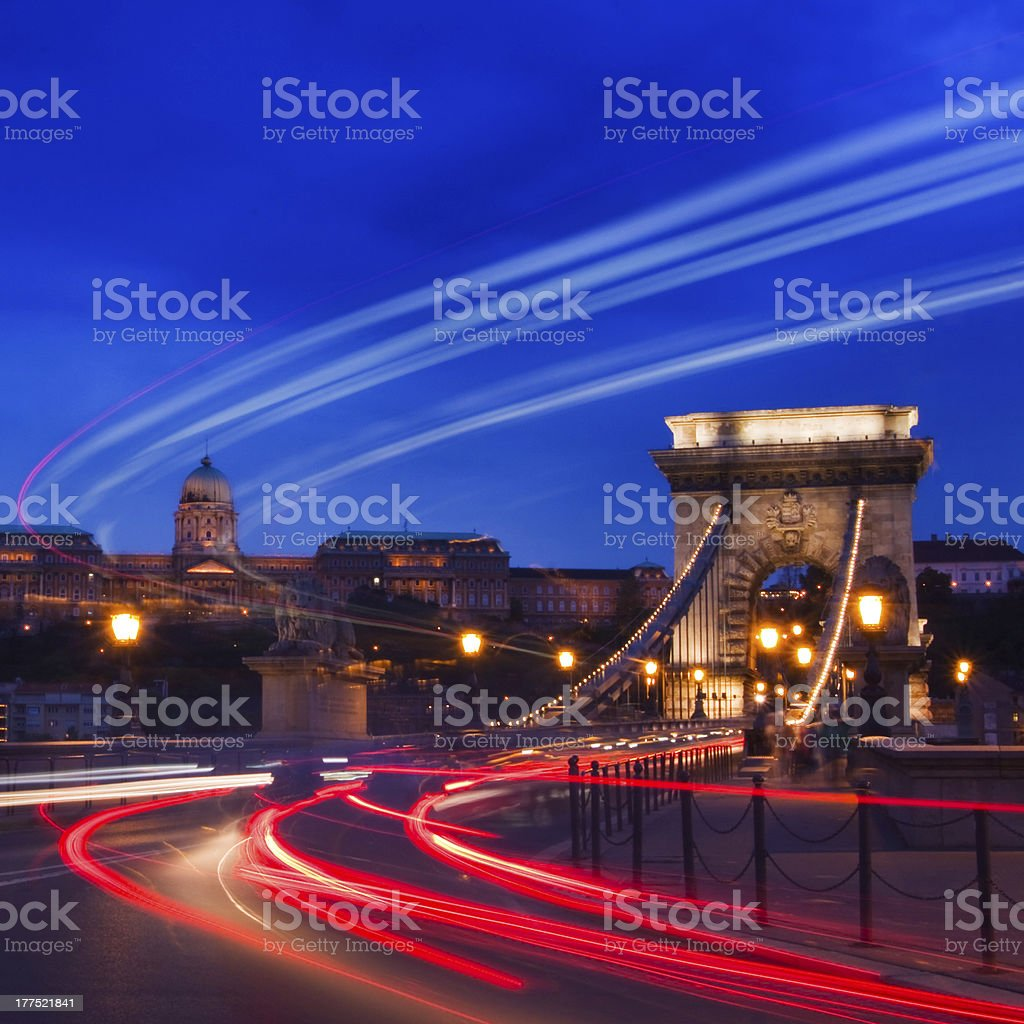 Night lights in Budapest royalty-free stock photo