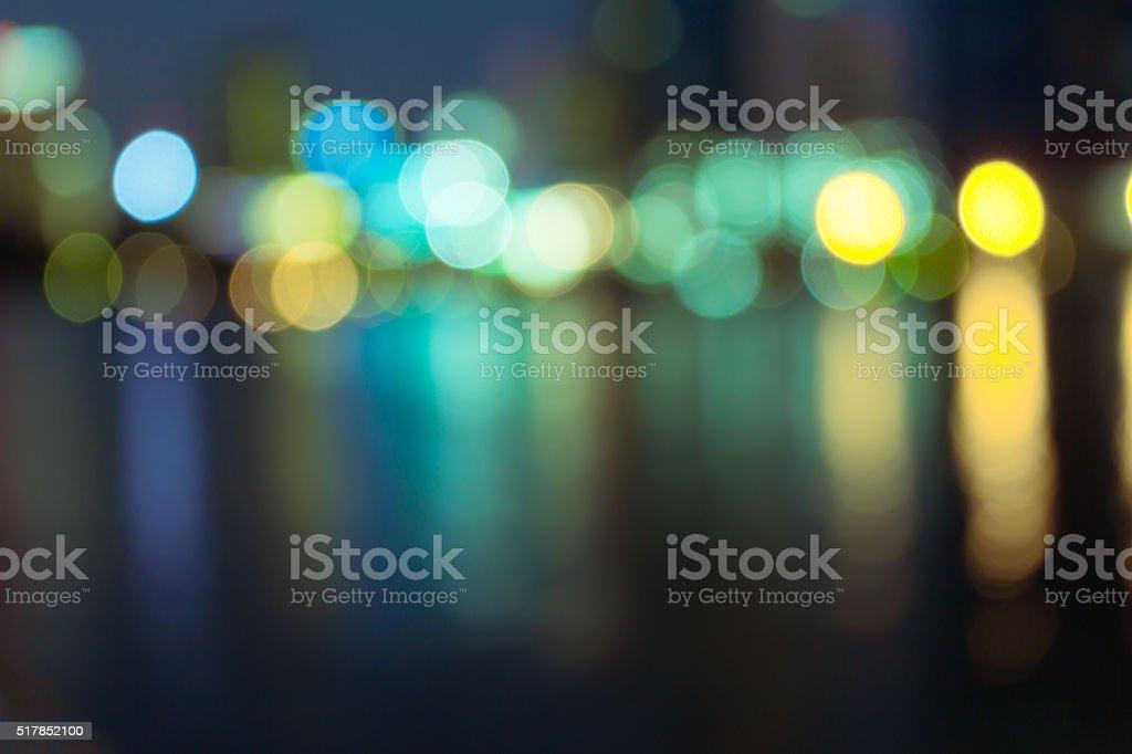 Night lights of the Hong Kong stock photo