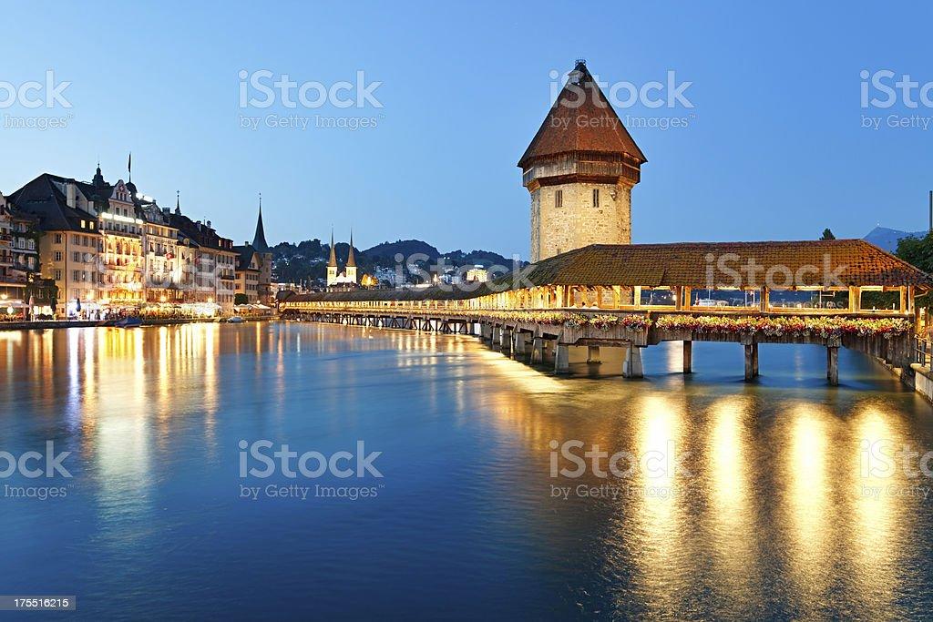Night Lucerne, Switzerland royalty-free stock photo