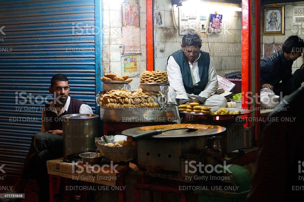 Night market, New Delhi, India royalty-free stock photo