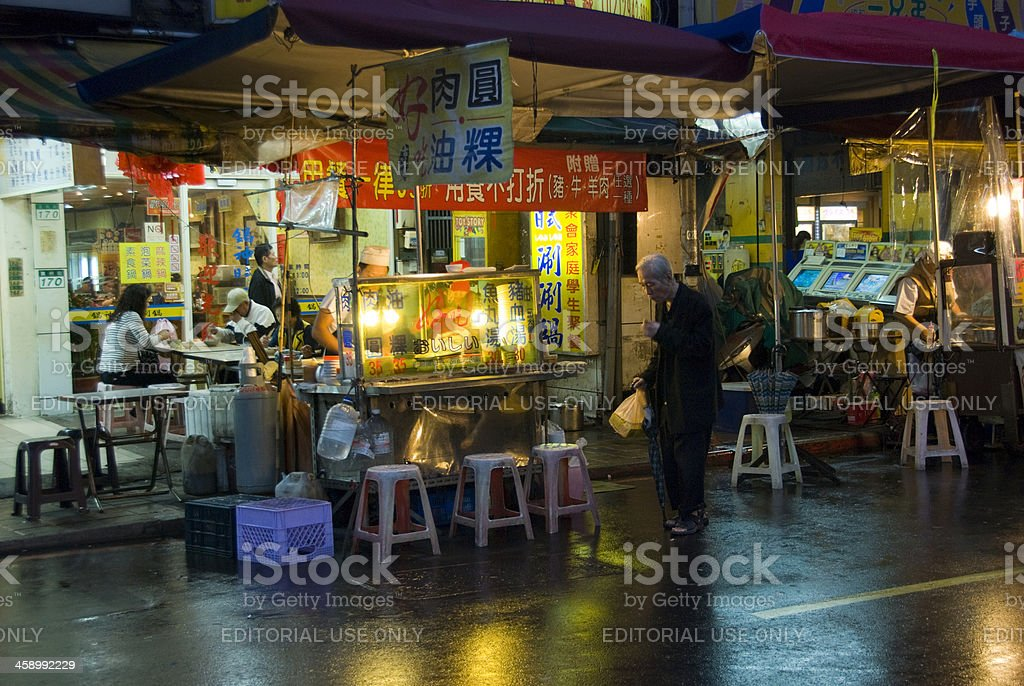 Night Market Restaurant in Asia royalty-free stock photo