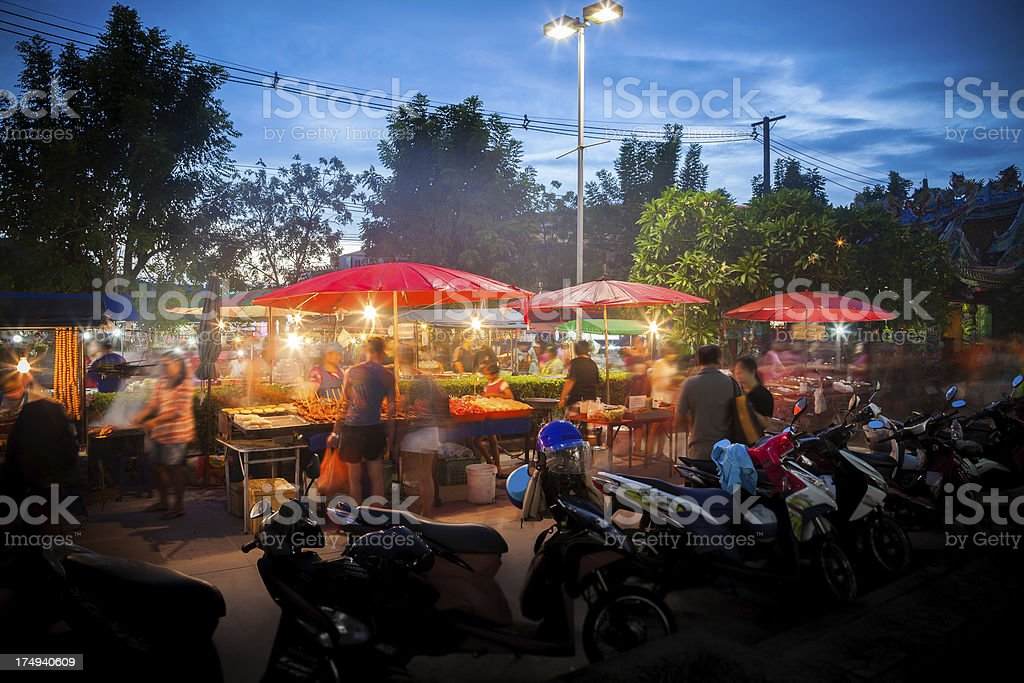 Night market Thailand stock photo