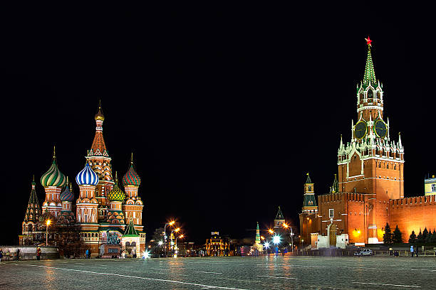 Night Moscow stock photo
