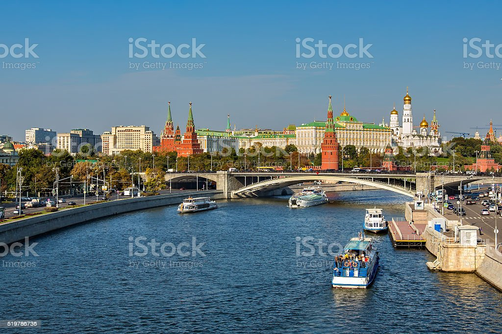 Night Moscow royalty-free stock photo