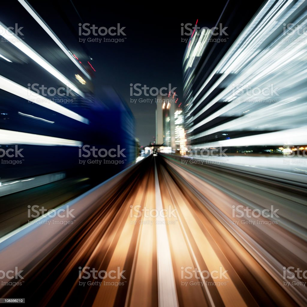 Night motion royalty-free stock photo
