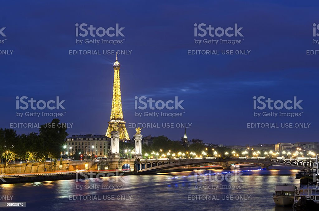 night of Paris stock photo
