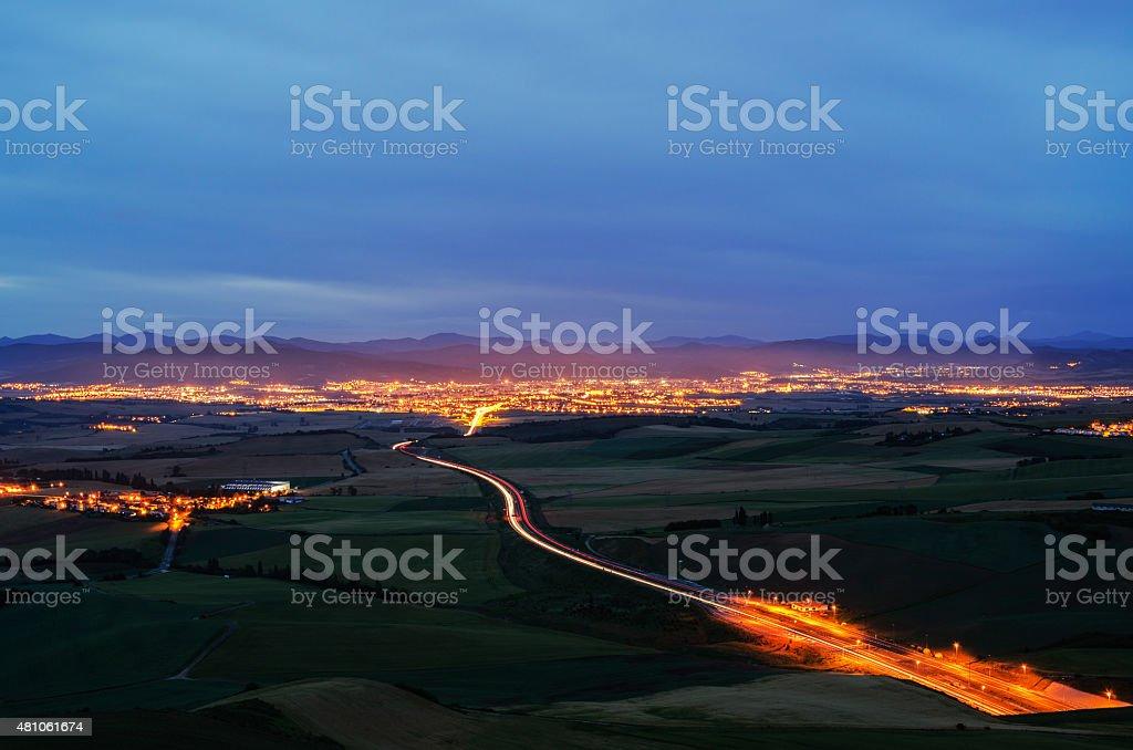 Night of the Sierra del perdon stock photo