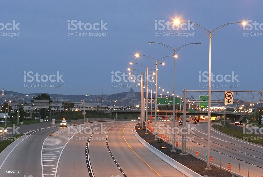 Night on the Highway royalty-free stock photo