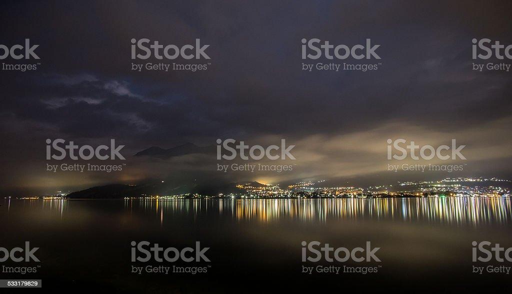 Night on the lake royalty-free stock photo