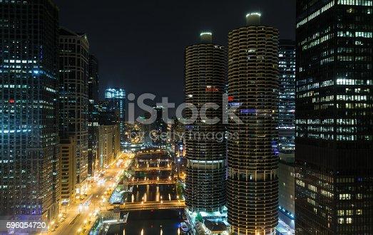 483312814 istock photo Night on the riverfront. 596054720