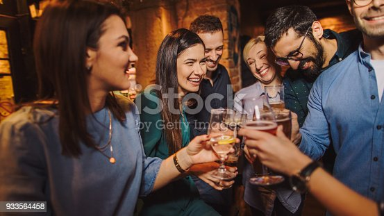 istock Night out with friends 933564458