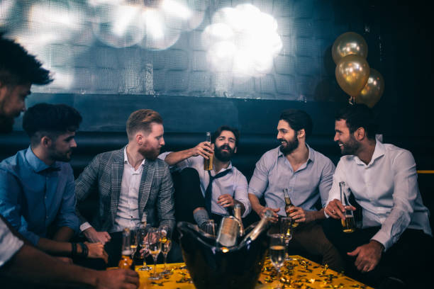 night out with mates - stag night stock pictures, royalty-free photos & images