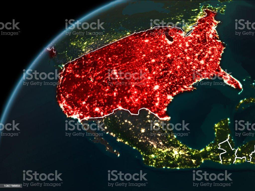 Noche en Estados Unidos - foto de stock