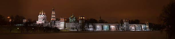 Nacht panorama von Neujungfrauen-Kloster – Foto
