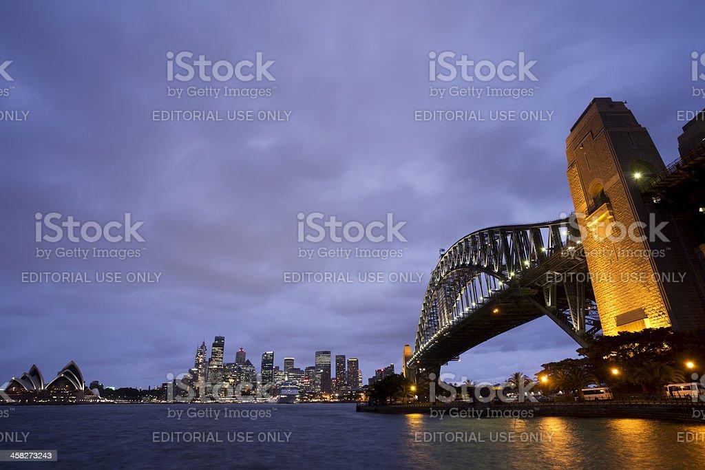 Night Panorama of Sydney royalty-free stock photo