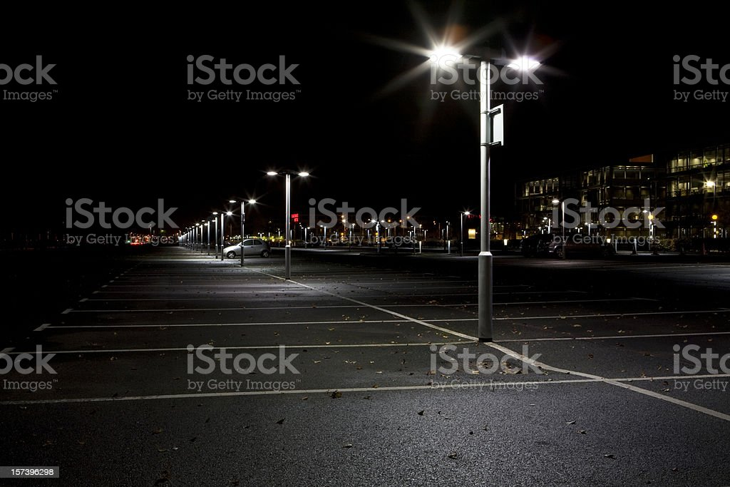 Night Parking stock photo