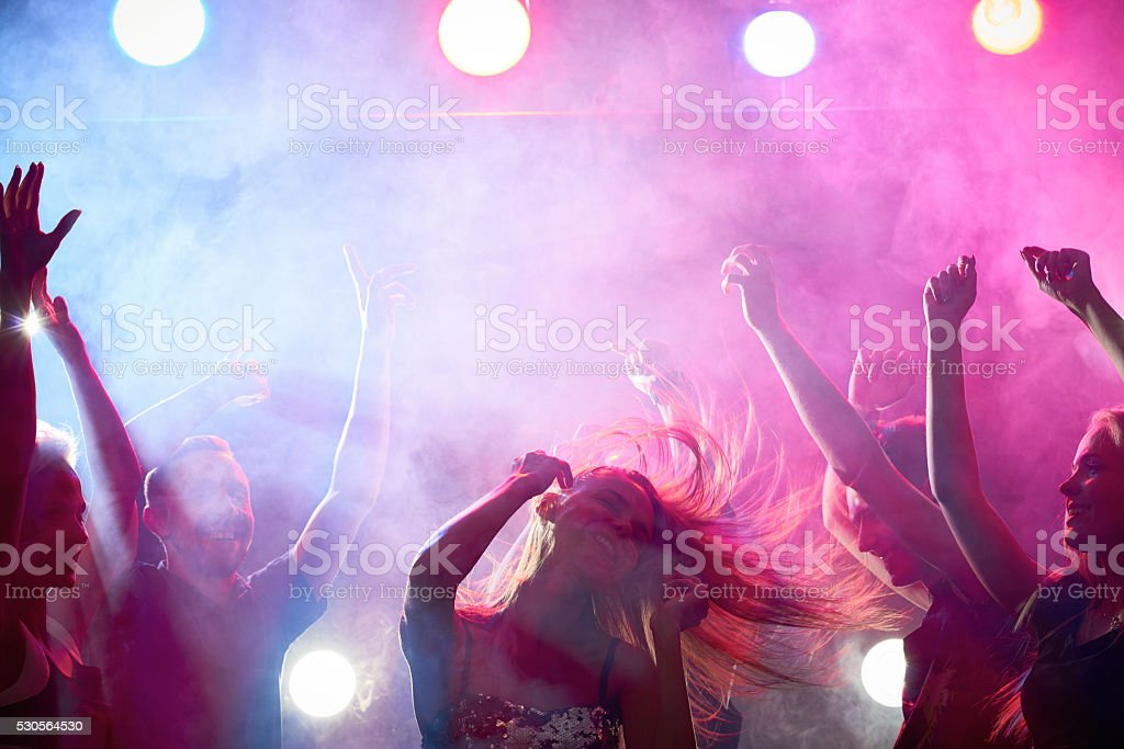 Night party stock photo