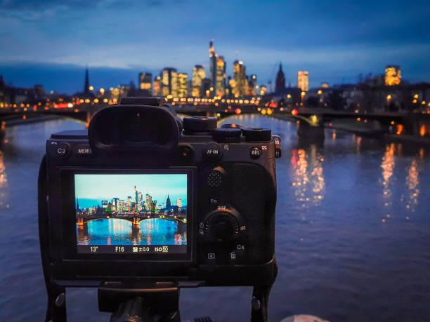 Night photography: Cityscape stock photo