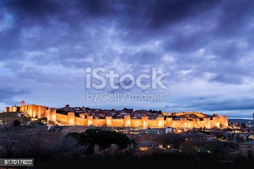 490314373 istock photo Night photography of the walls of Avila (Spain) 917017622