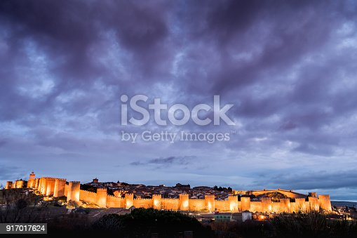 490314373 istock photo Night photography of the walls of Avila (Spain) 917017624