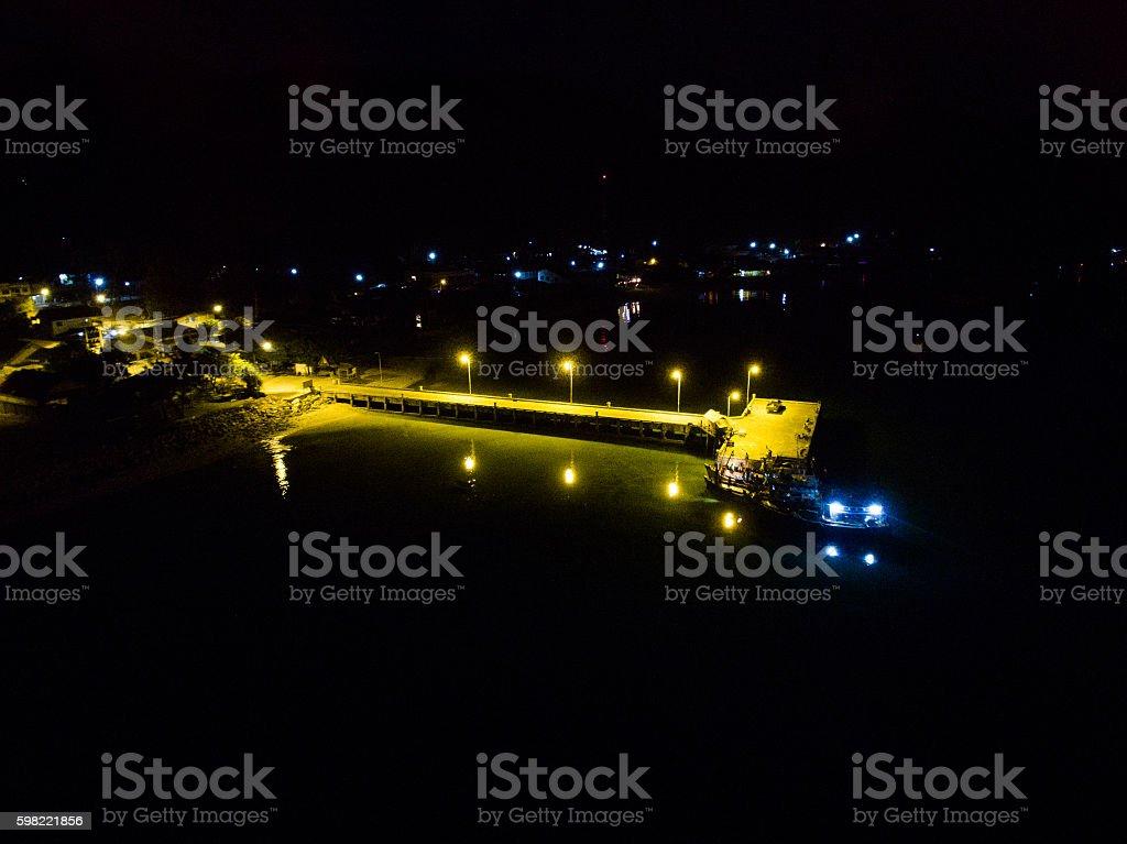 Night pier in Koh Phangan Thailand foto royalty-free