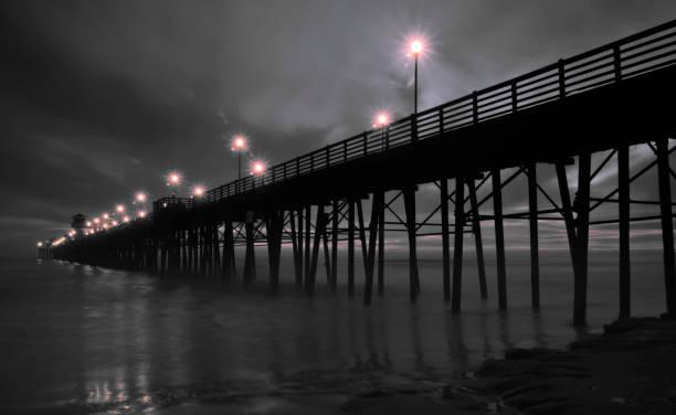Night Pier - foto stock