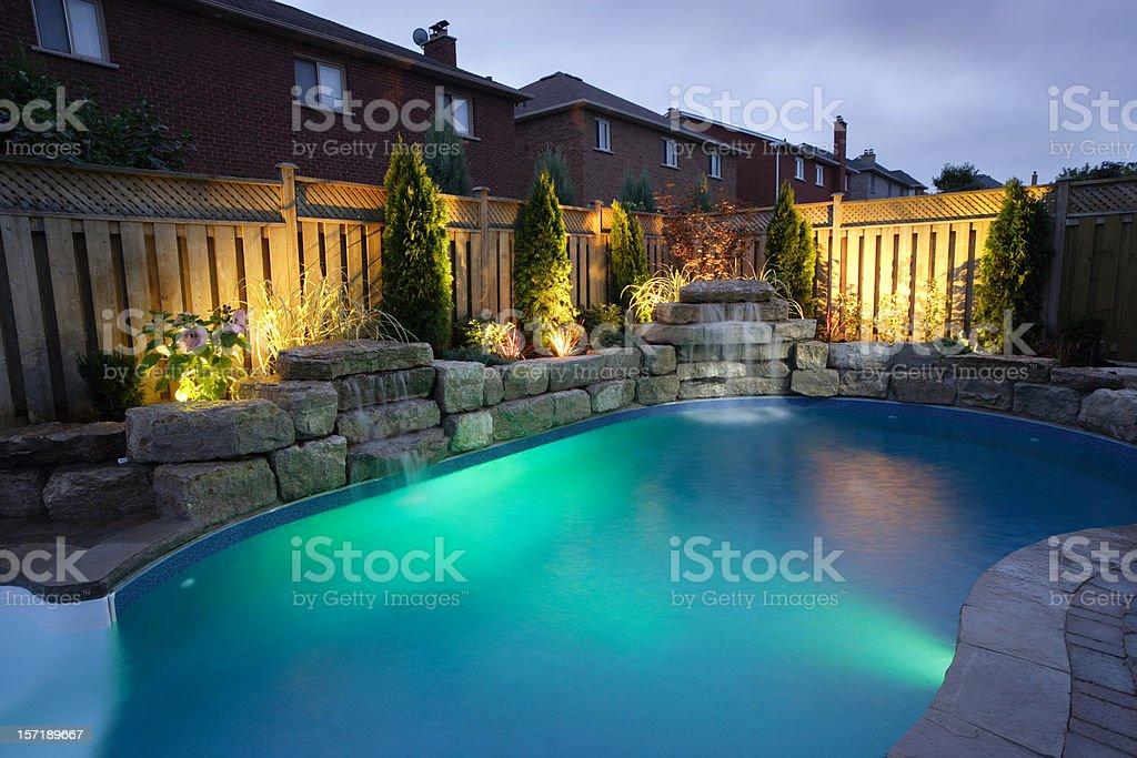 Night Pool stock photo