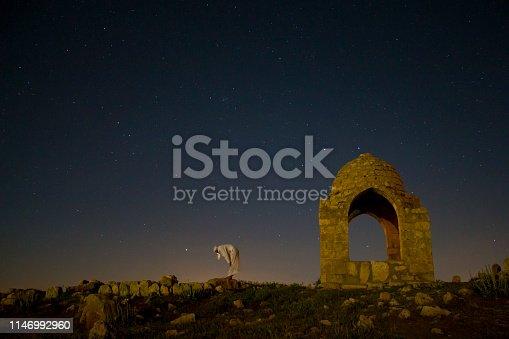 Mardin Dara Harabelerinde bulunan kümbette gece yıldızlar altında yapılan ibadet, kılınan namaz