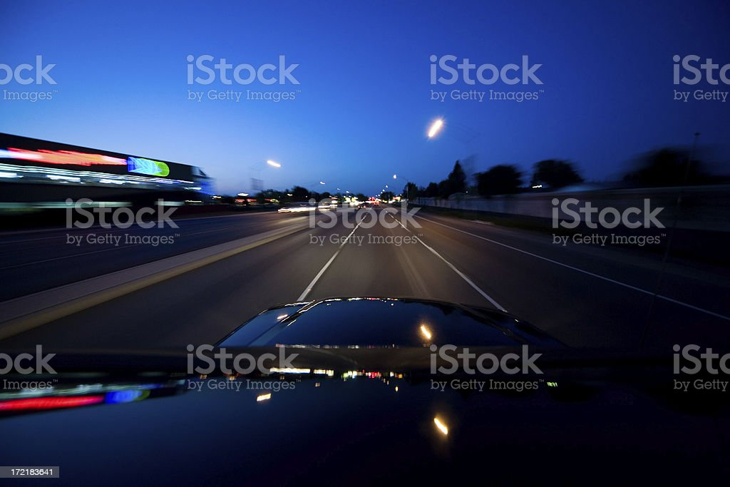 Night Race royalty-free stock photo