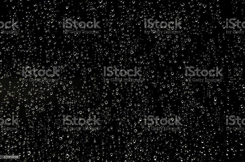 Night Rain Shower stock photo