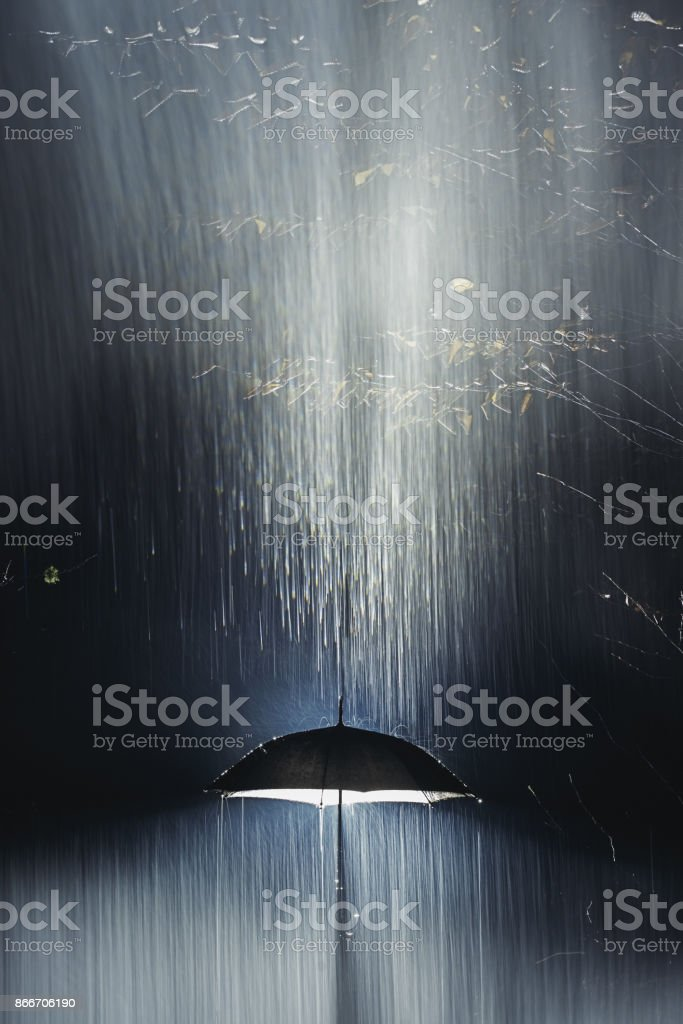 Night Rains stock photo
