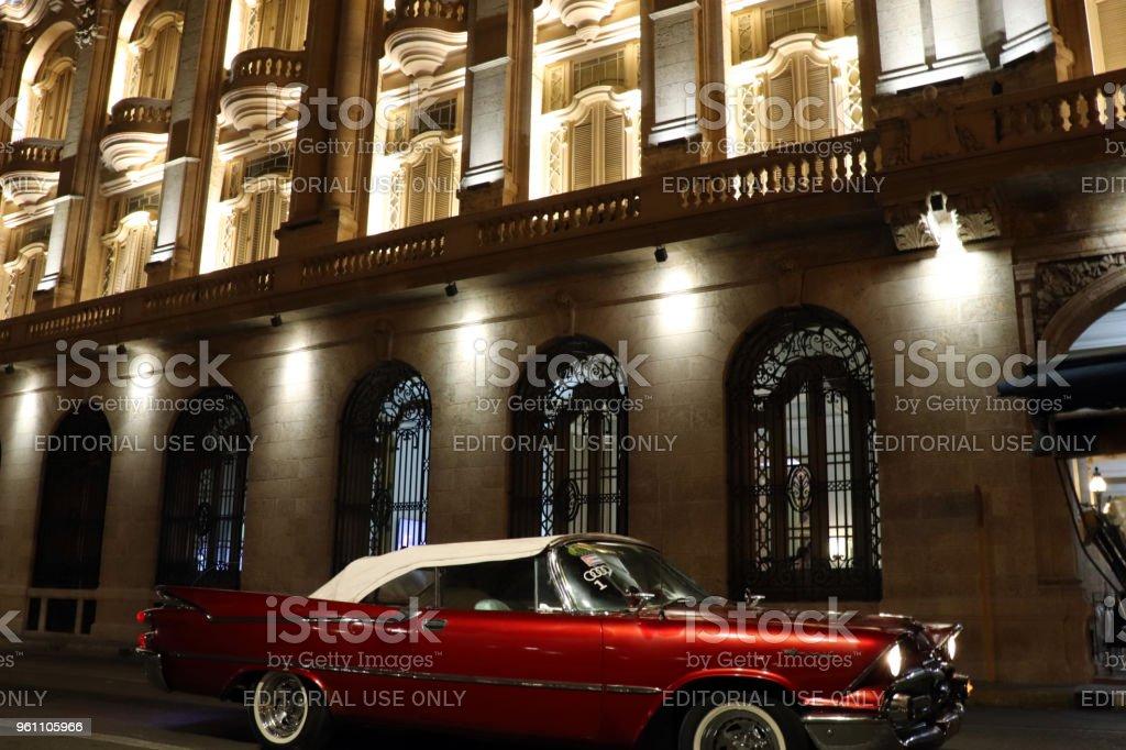 Night Ride through Havana stock photo
