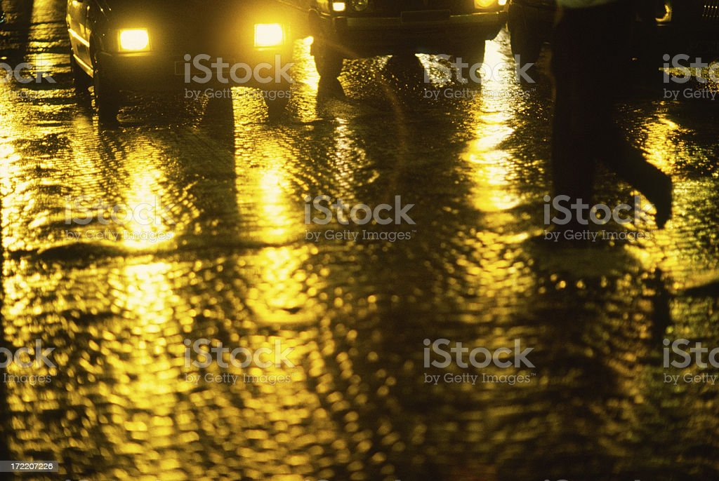 Night Road of Paris  royalty-free stock photo