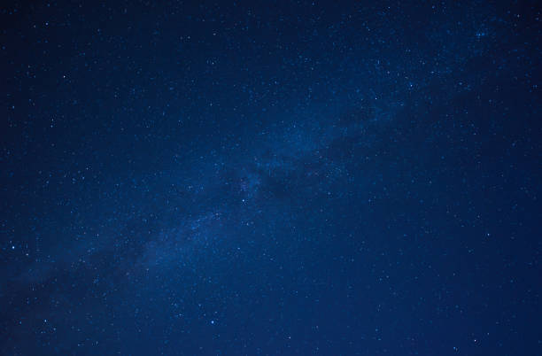 night scene milky way background - star shape stock photos and pictures