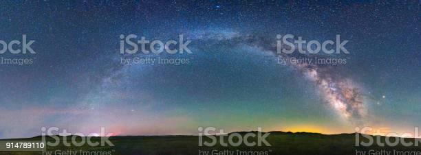 Photo of night scene milky way background