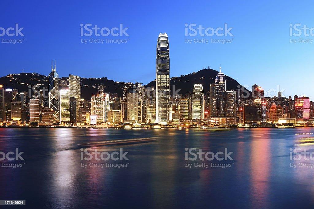 Night scene of Hong Kong royalty-free stock photo