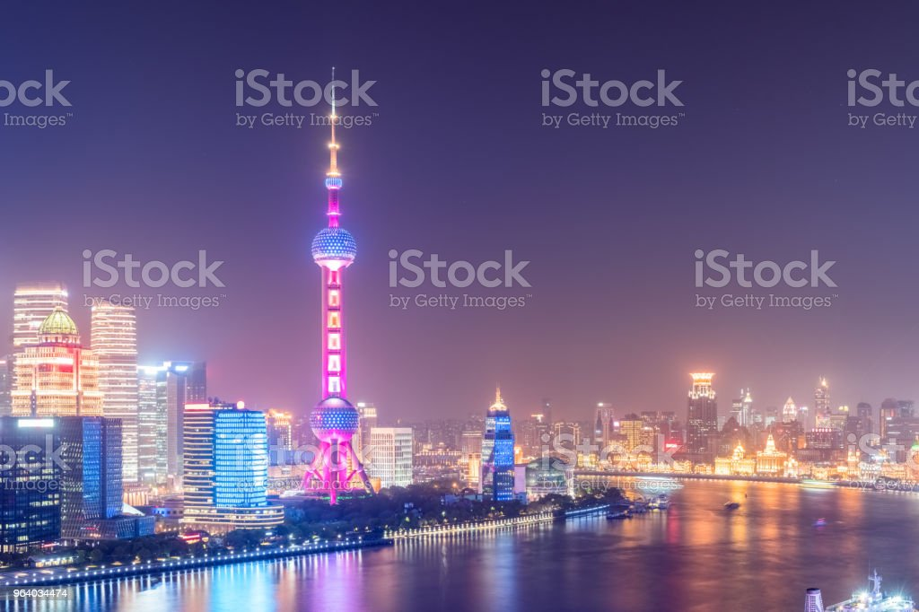 night scene of shanghai - Royalty-free China - East Asia Stock Photo