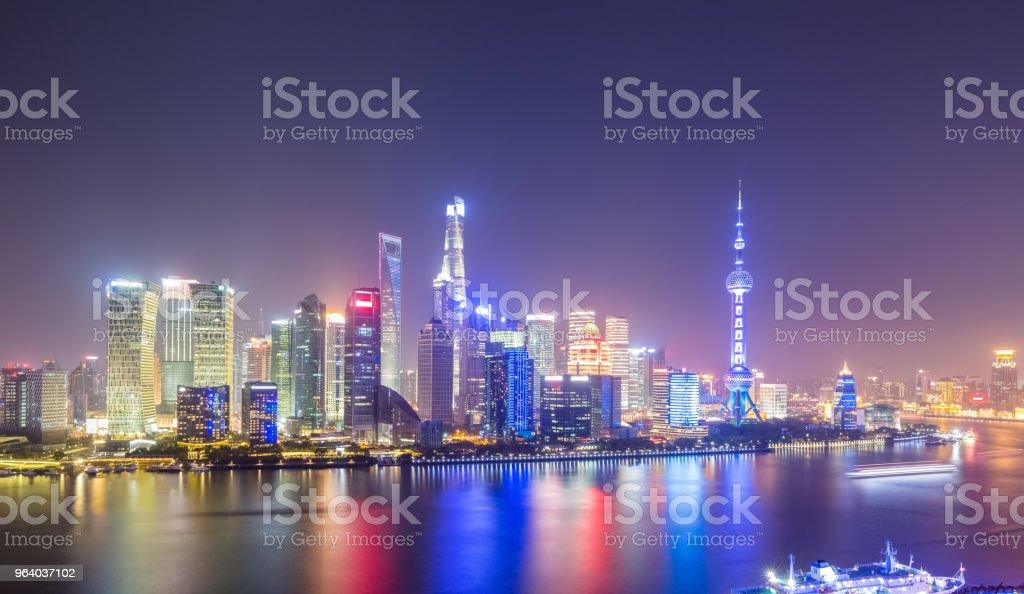 night scene of shanghai skyline - Royalty-free Asia Stock Photo