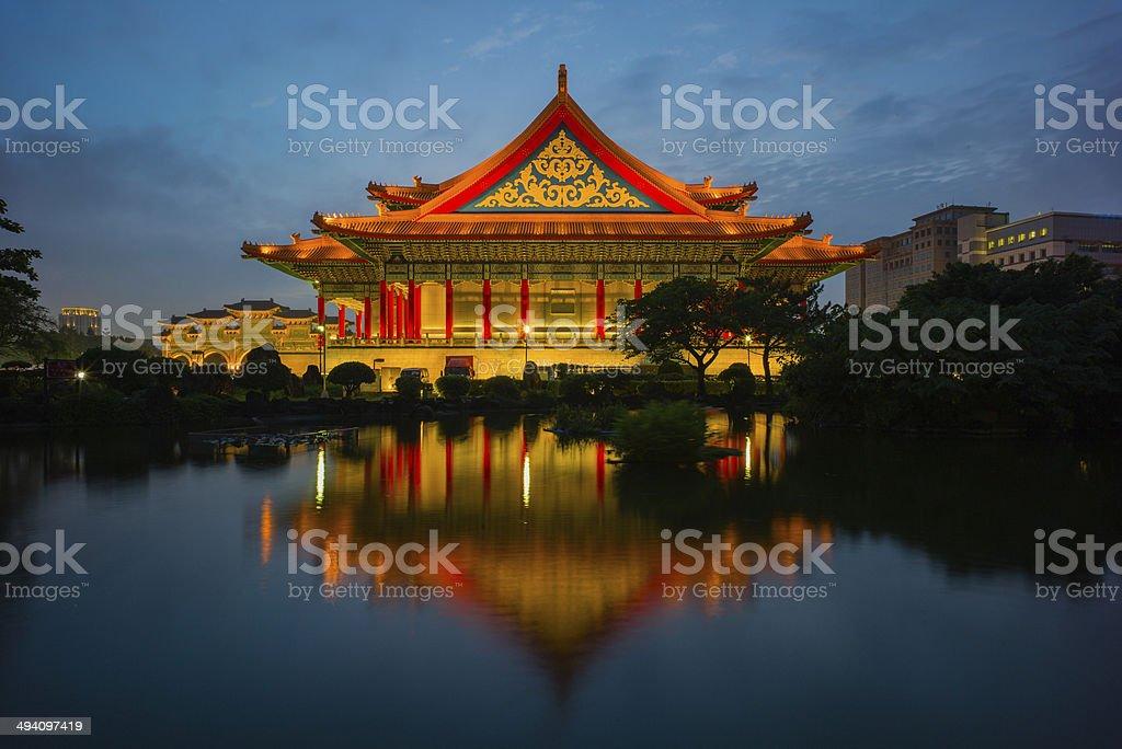 night scene of Taipei stock photo